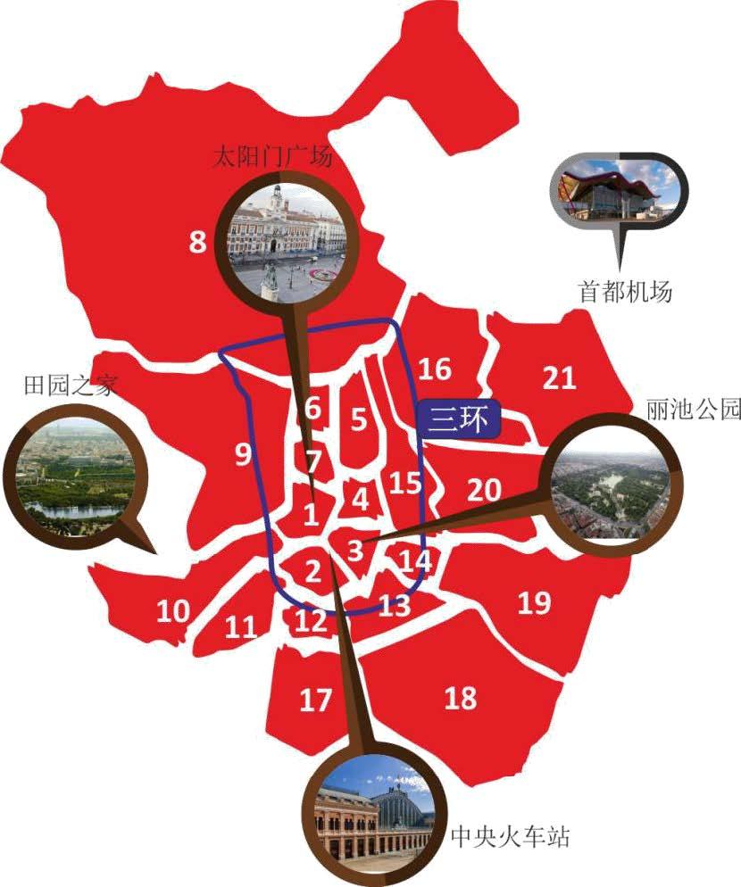 马德里城市细化图